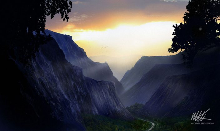 The Valley Matte Painting