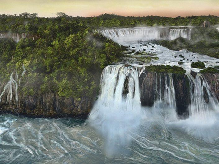 Waterfalls Matte Painting