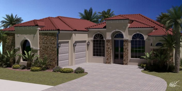 Florida House Architectural Visualization