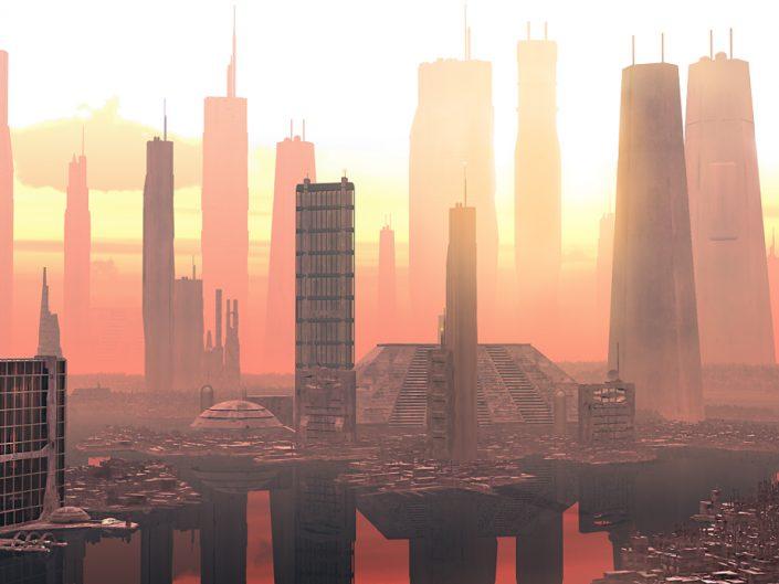 Future City Sunset
